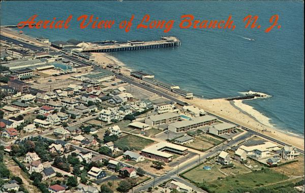 Aerial View of Beachfront Long Branch New Jersey