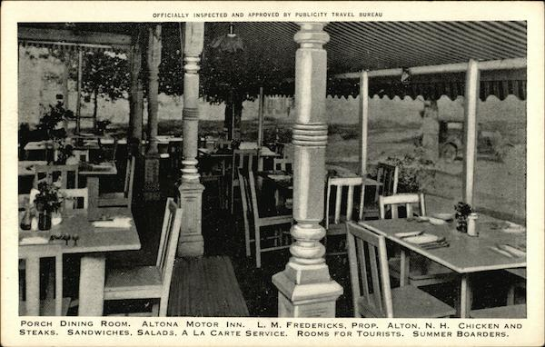 Altona Motor Inn - Porch Dining Room New Hampshire