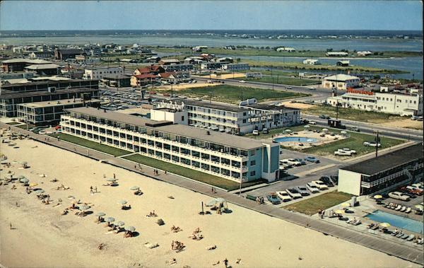 Beach and Motel and Night Club Area Ocean City Maryland