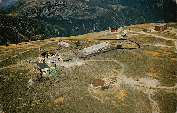Aerial View of Summit Buildings Mount Washington New Hampshire