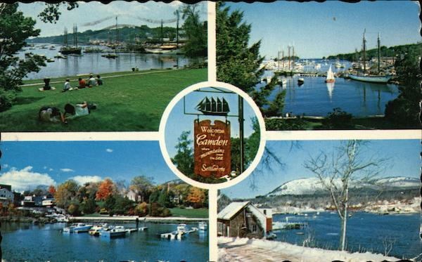Greetings from Camden Harbor Maine
