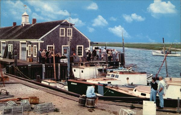 Typical Cape Cod Harbor Scene Massachusetts