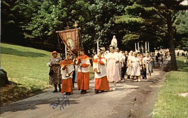 Procession (Every Sunday Afternoon), Saint Anne's Shrine Fiskdale Massachusetts