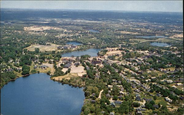 Aerial View of Town Falmouth Massachusetts