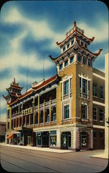 Ornate Building in Chinatown Postcard