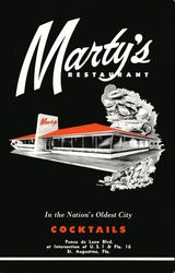 Marty's Restaurant Postcard