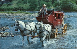 T.L.T. Stage Coach Crossing the Greenbrier River