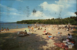 Beach at Lake Winnipesaukee Postcard