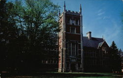 Bowdoin College - Hubbard Hall Library Postcard