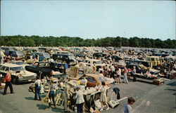 Wellfleet Drive-In Theater - Flea Market Postcard