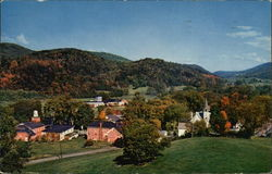 The Green Mountain Village of Jeffersonville Near Mt. Mansfield, Vermont