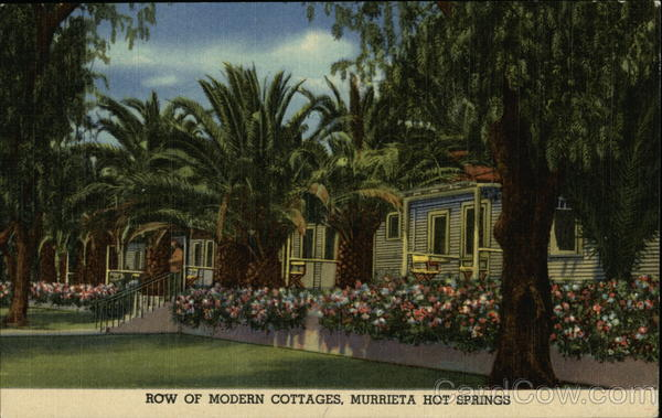 Row of Modern Cottages, Murrieta Hot Springs California
