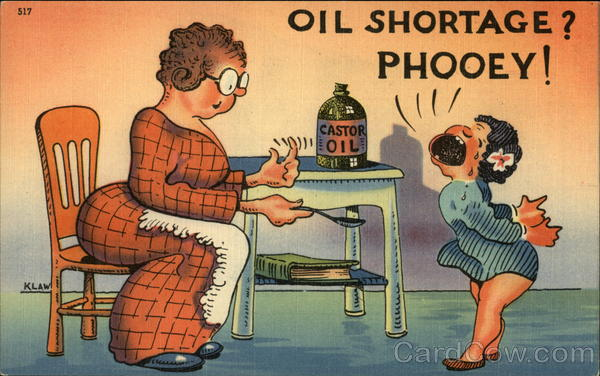 Oil Shortage? Phooey! Comic, Funny Oil Wells