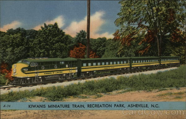 Kiwanis Miniature Train, Recreation Park Asheville North Carolina