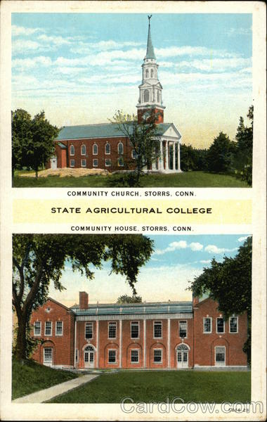 Views of State Agricultural College Storrs Connecticut