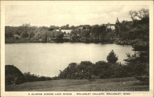 A Glimpse Across Lake Waban. Wellesley College Massachusetts