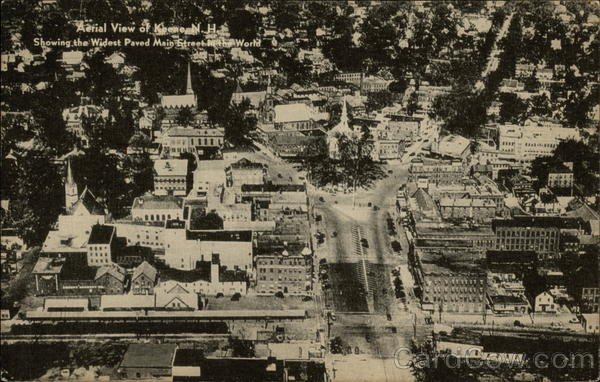 Aerial View of Town Keene New Hampshire