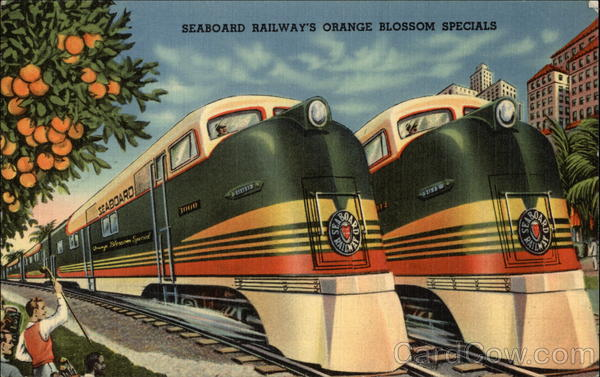 Seaboard Railway - Orange Blossom Specials Trains, Railroad