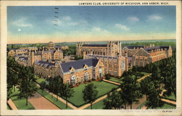 Lawyer's Club, University of Michigan Ann Arbor