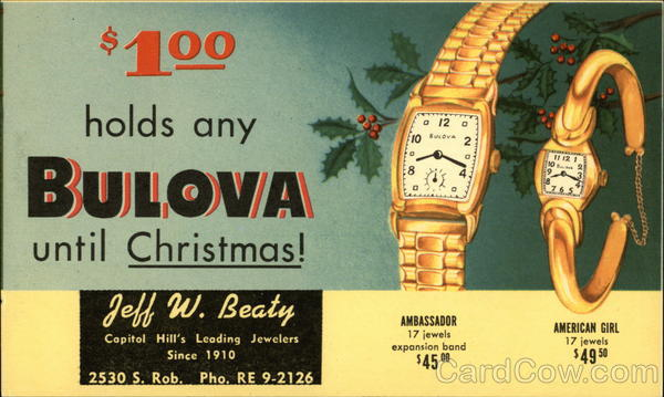 Bulova Watches Advertising