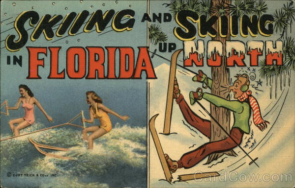 Skiing in Florida and Skiing up North Comic, Funny