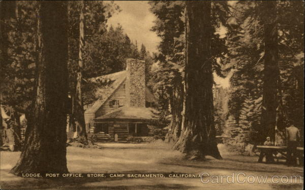 Lodge, Post Office, Store, Camp Sacramento Twin Bridges California