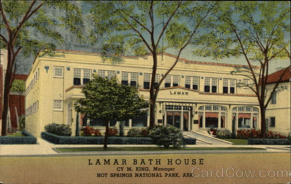 Lamar Bath House Hot Springs National Park Arkansas