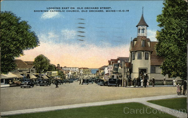 Looking East on Old Orchard Street Old Orchard Beach Maine