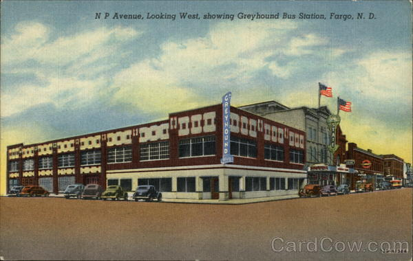 N P Avenue Looking West Showing Greyhound Bus Station