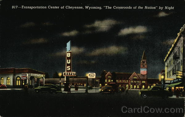 Transportation Center at Cheyenne, Wyoming, The Crossroads of the Nation by Night