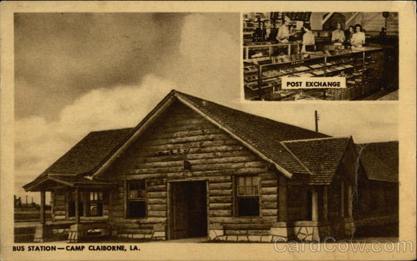 Post Exchange, Bus Station Camp Claiborne Louisiana