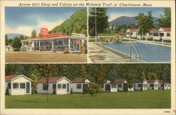 Arrow Gift Shop and Cabins on the Mohawk Trail Postcard