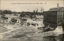 The Falls, Androscoggin River, Lewiston and Auburn, Maine