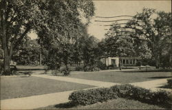 Campus View from Administration Building, Oberlin College Postcard