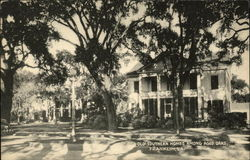 Old Southern Homes among Aged Oaks Postcard