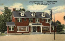 Burnett's Hotel and Restaurant Postcard