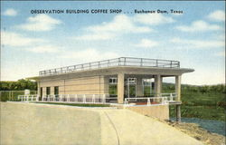 Observation Building Coffee Shop Postcard