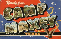 Howdy from Camp Maxey Postcard