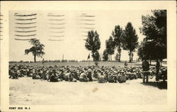 Soldiers Sitting in Field
