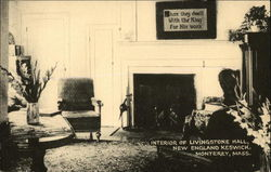 Interior of Livingstone Hall, New England Keswick Postcard