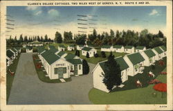 Clarke's Deluxe Cottages, Two Miles West of Geneva, N.Y., Route 5 and 20