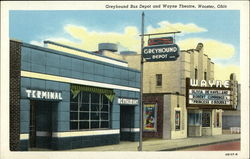 Greyhound Bus Depot and Wayne Theatre