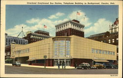 Overland Greyhound Bus Station, Telephone Building in Background