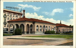 C.B. & Q. (Burlington) Bus and Railroad Depot
