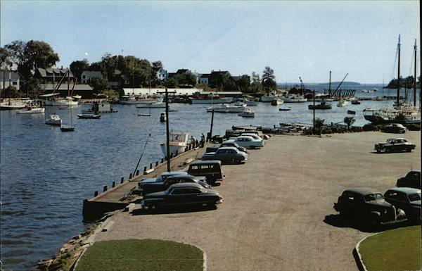 Camden Harbor - Looking Toward Curtis Island from Public Landing Maine