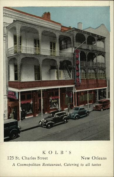 Kolb's At 125 St. Charles Street In New Orleans Louisiana