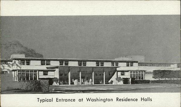 Typical Entrance at Washington Residence Halls District of Columbia