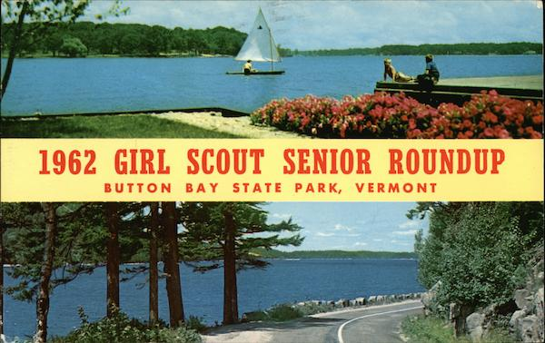 1962 Girl Scout Senior Roundup, Button Bay State Park Vergennes Vermont