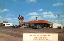 Motel & Restaurant Philray Inc Postcard