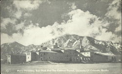 Men's Dormitory, Bear Peak and the Flatirons Beyond, University of Colorado, Boulder